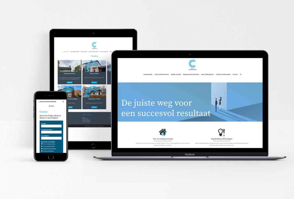 Eenvoudig te vullen website met panden aanbod